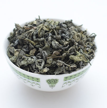 green tea product photography