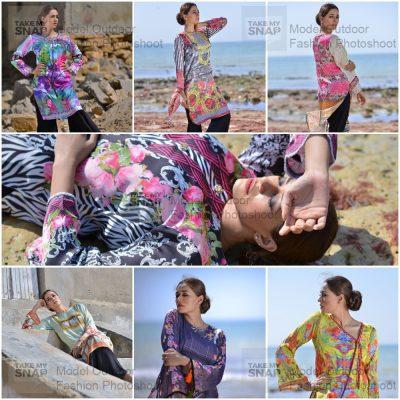 Outdoor Model Fashion Shoot